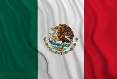 Mexicaanse vlag Stockfoto