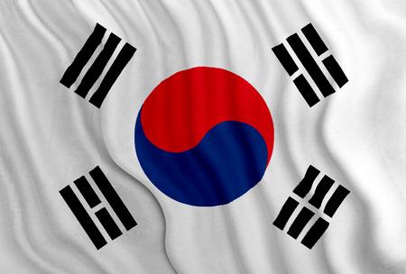 Zuid-Korea Vlag Stockfoto