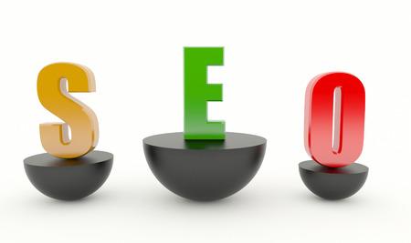 Search engine optimization - SEO on podium - Black Standard-Bild