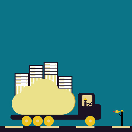 virtualizacion: La prestaci�n de servicios de virtualizaci�n de aplicaciones en la nube con el color de la vendimia