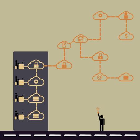 hybrid: Hybrid cloud computing concept ideas