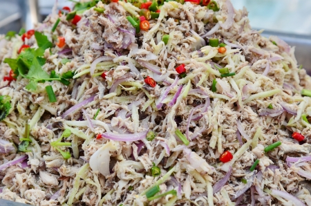 Thai mackerel salad Stock Photo - 24549699