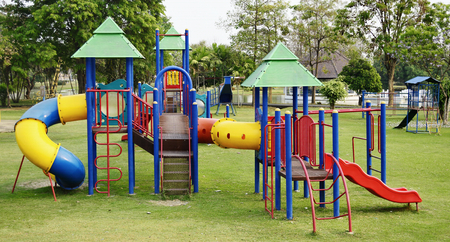 Colorful playground on the field  photo