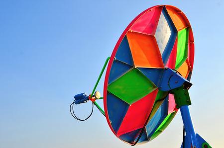 tele up: Satellite dish Stock Photo
