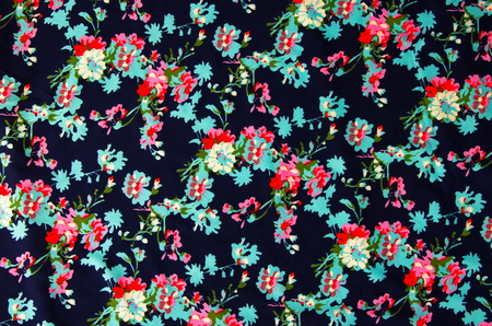 beautiful style  flowers on cloth fabric.
