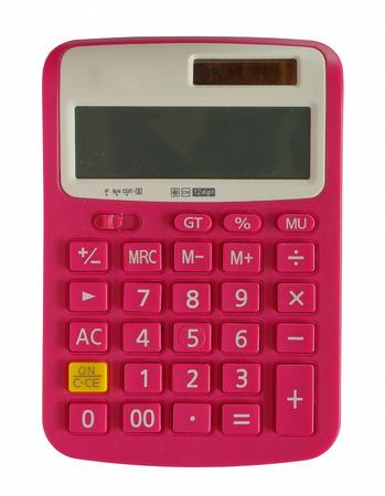 Calculator pink color.