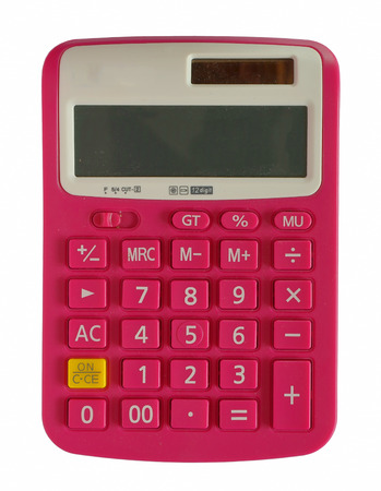 Calculator pink color.