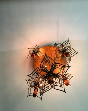 Hanging lamps in meeting room. 写真素材