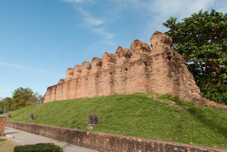 Ancient wall in nakhon si thammarat, landmark of nakhon si thammarat Thailand