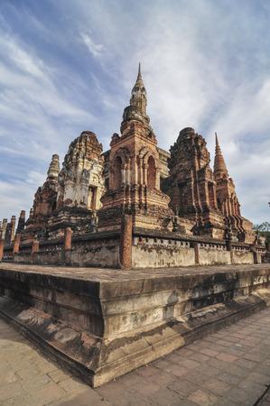sukhothai: Sukhothai historical park at Sukhothai province in Thailand