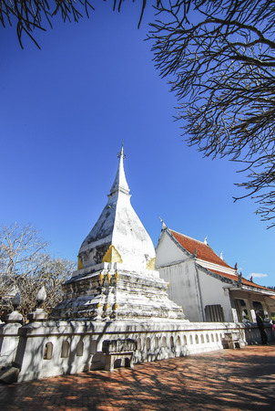 stu: Phra That Si Song Rak is a symbol of the relationship with more than 400 years Loei Thailand.