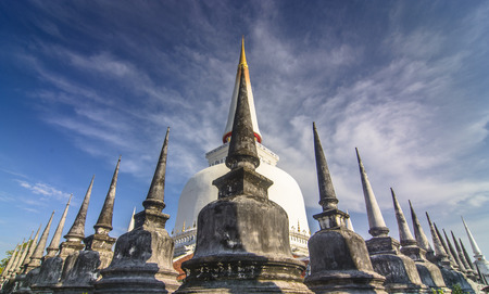 nakhon: Pagoda in Wat Mahathat, Nakhon Si Thammarat province Thailand Stock Photo