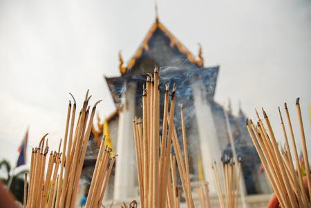 joss: joss sticks at temple in Thailand
