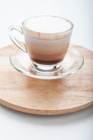glass cup: Latte macchiato