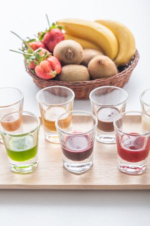 jams: Mix of jams and fruits Stock Photo