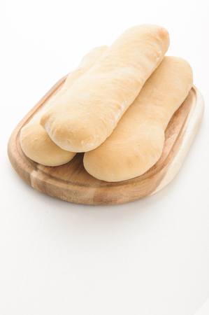 life loaf: french bread isolated on white