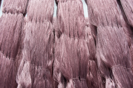 sericulture: silks in North East.Thailand Stock Photo