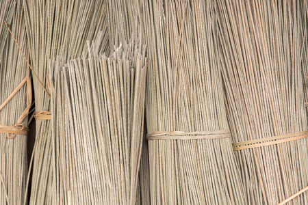 bulrushes: Bulrushes (Lepironia Articulata) are bundled and left to dry under the sun before using as a material for handicraft products e.g. bags and mats.