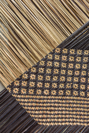 Handcraft weave texture natural wicker (kajood,  Bulrushes, Lepironia Articulata) Stock Photo