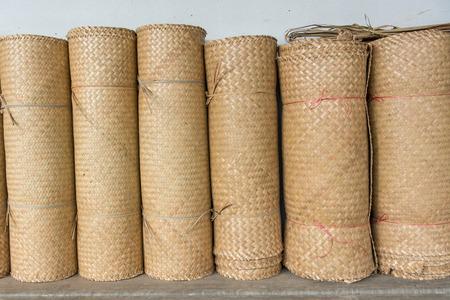 bulrushes: Weave from kajood or Bulrushes (Lepironia Articulata) Stock Photo