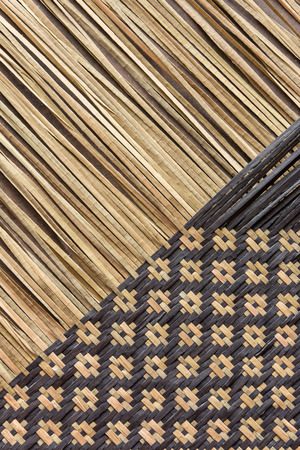 bulrushes: Handcraft weave texture natural wicker (kajood,  Bulrushes, Lepironia Articulata) Stock Photo