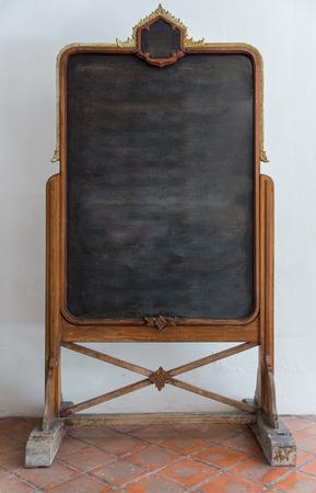 tableau: Vintage picture frame, Blackboard, wood plated