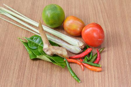 tom': Ingredients of Thai spicy food, tom yum.