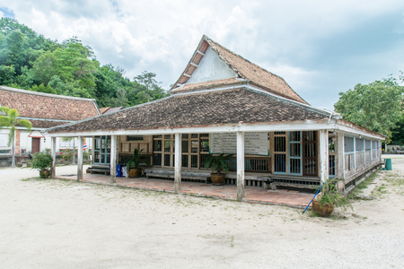 northeast: Thailand Traditional Local Architecture Building in Wat Tai Yor Songkhla Thailand
