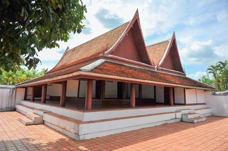 declared: Chao Muang Phatthalung Palace or Wang Chao Muang Phatthalung (Wang Lao-Wang Mai)Originally a government place and the home of the city lord The Fine Arts Department declared it a national historical site in 1983 Phatthalung, Thailand Editorial