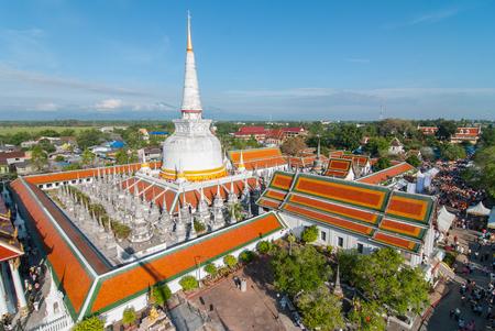 nakhon: Top view of wat phra mahathat nakhon si thammarat