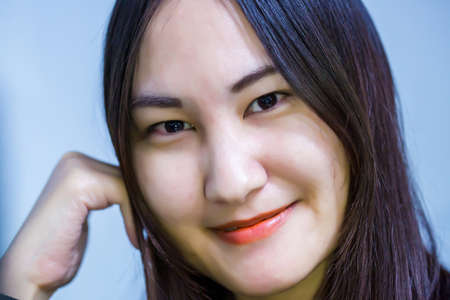 Asian woman is smile happily. The concept of beautiful and happiness.