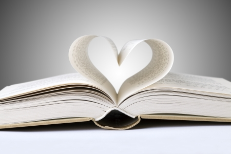 book heart photo