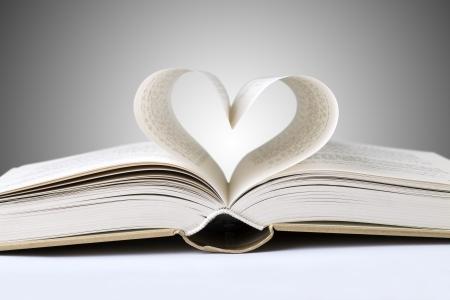 bible background: book heart