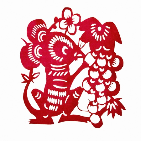 Chinese Paper-cutting Rat