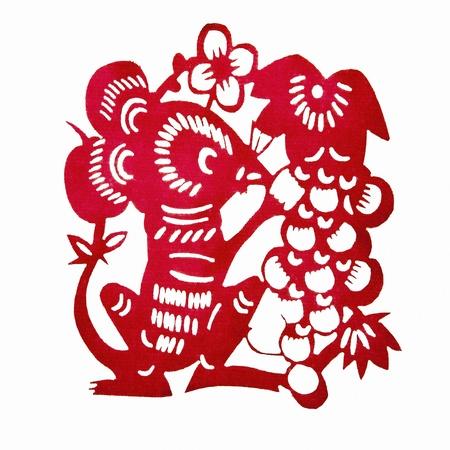 Chinese Paper-cutting Rat   photo