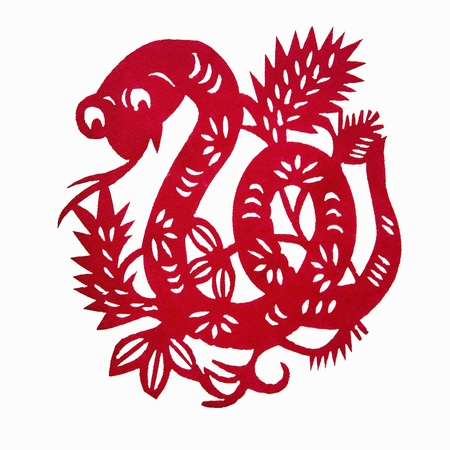 year of the snake: Zodiac Chinese Paper-cutting  Snake