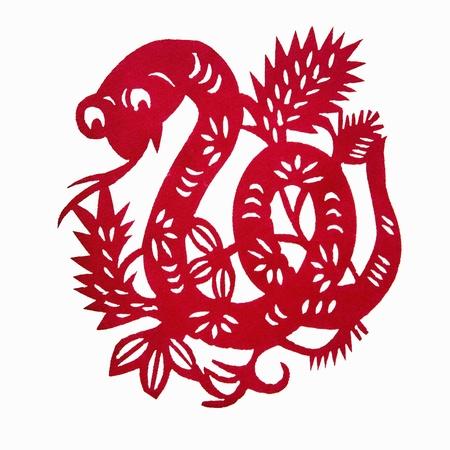 Zodiac Chinese Paper-cutting  Snake