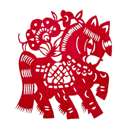 Zodiac Chinese Paper-cutting  Horse  Stock Photo - 15505493