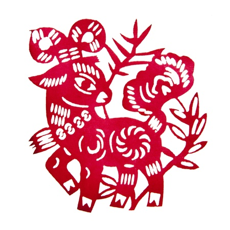 Zodiac Chinese Paper-cutting  Sheep   photo