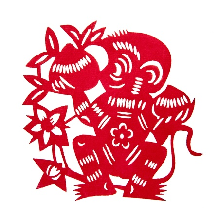 Zodiac Chinese Paper-cutting  Monkey  photo