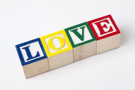 wooden alphabet blocks  Stock Photo - 15856561