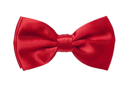 neck ties: Red bow tie
