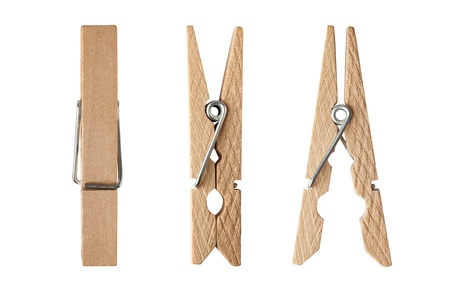 clothes pin: wooden clothes pin with Path