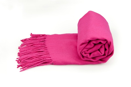 Pink scarf photo