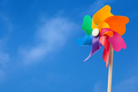 plastic toys: colourful windmill