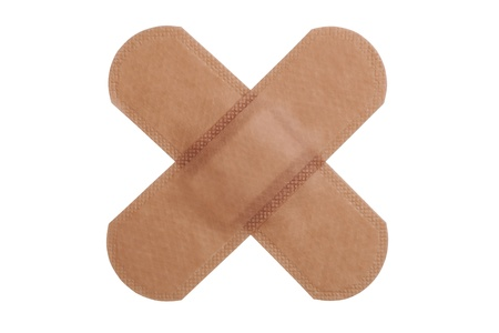 wound care: Band aid isolated over a white background
