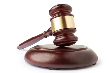 derecho penal: Mazo y bloque de sonido