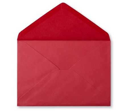 open envelope: sobre rojo