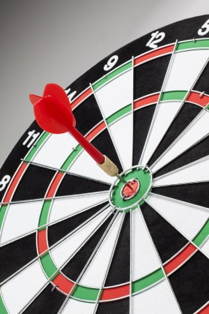 dart board: darts arrows in the target center Stock Photo