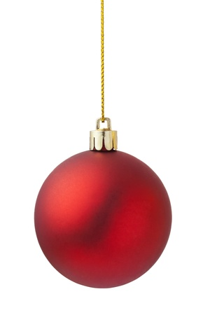 christmas ornaments: red christmas ball